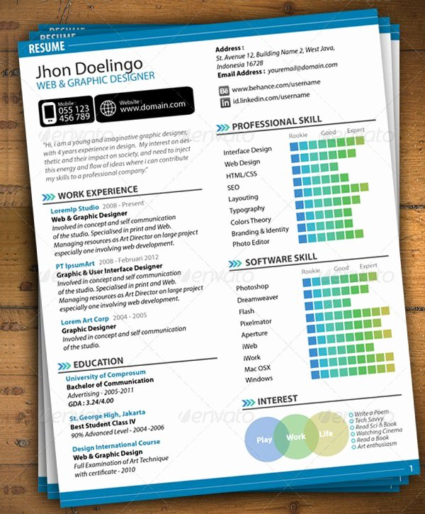 Web Designer Resume Template Fresh Mac Resume Template – Great for More Professional yet