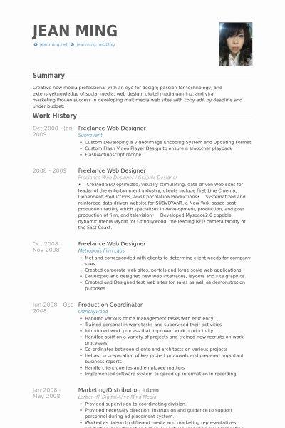 Web Designer Resume Template Inspirational Web Designer Resumes Best Resume Collection