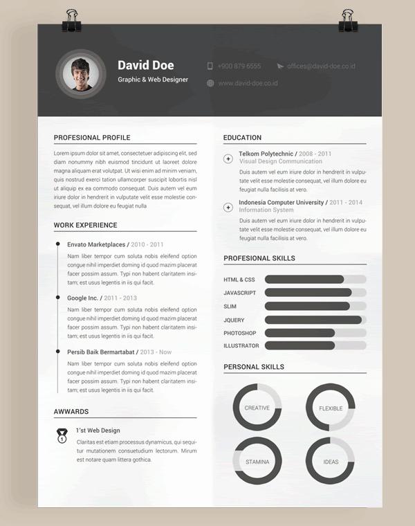 Web Designer Resume Template Lovely 20 Beautiful & Free Resume Templates for Designers