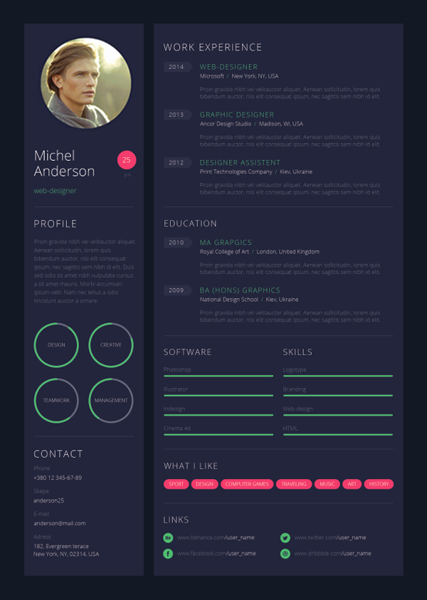 Web Designer Resume Template Lovely 9 Creative Resume Design Tips with Template Examples