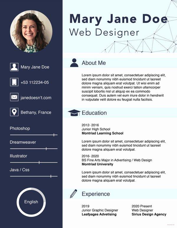 Web Designer Resume Template Lovely Web Designer Fresher Resume Cover Letter Portfolio