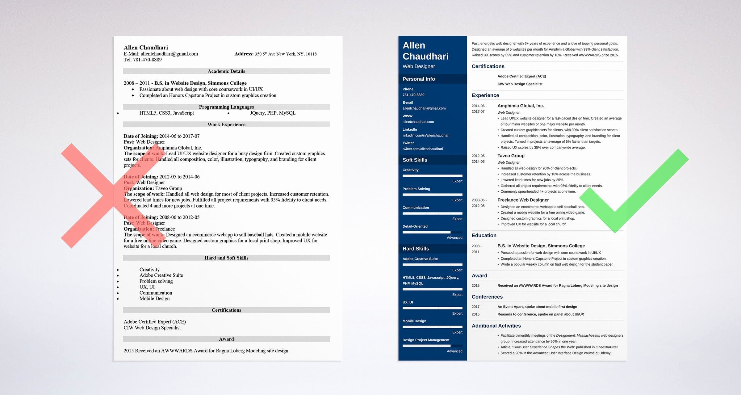 Web Designer Resume Template New Web Designer Resume Sample and Plete Guide [ 20 Examples]