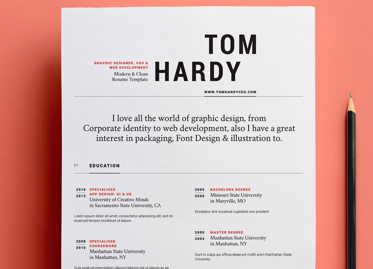 Web Designer Resume Template Unique Free and Beautifully Designed Resume Templates Designmodo