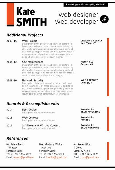 Web Developer Resume Template Awesome Web Designer Resume Template Cover Letter Portfolio
