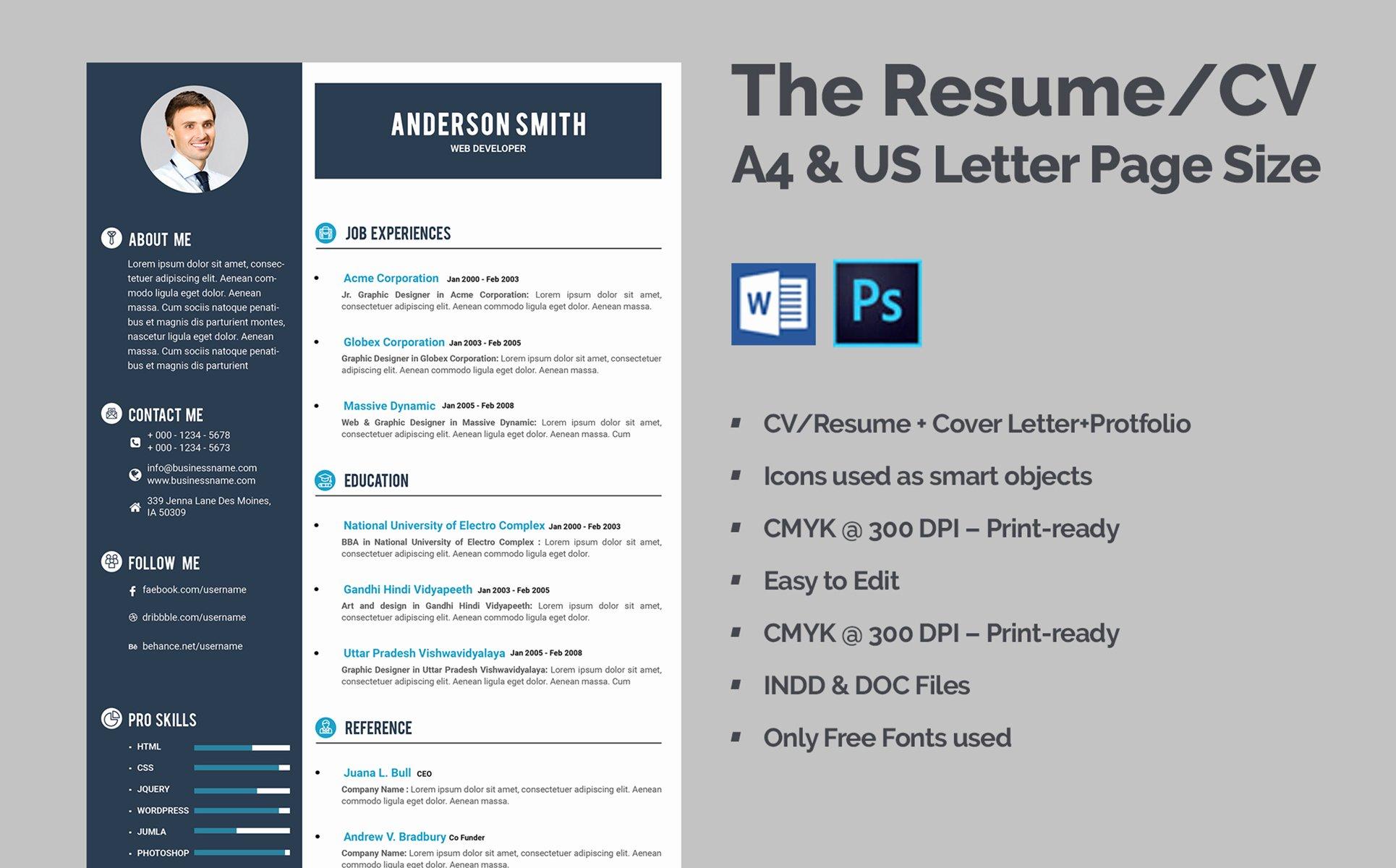 Web Developer Resume Template Awesome Web Developer Cv Resume Template
