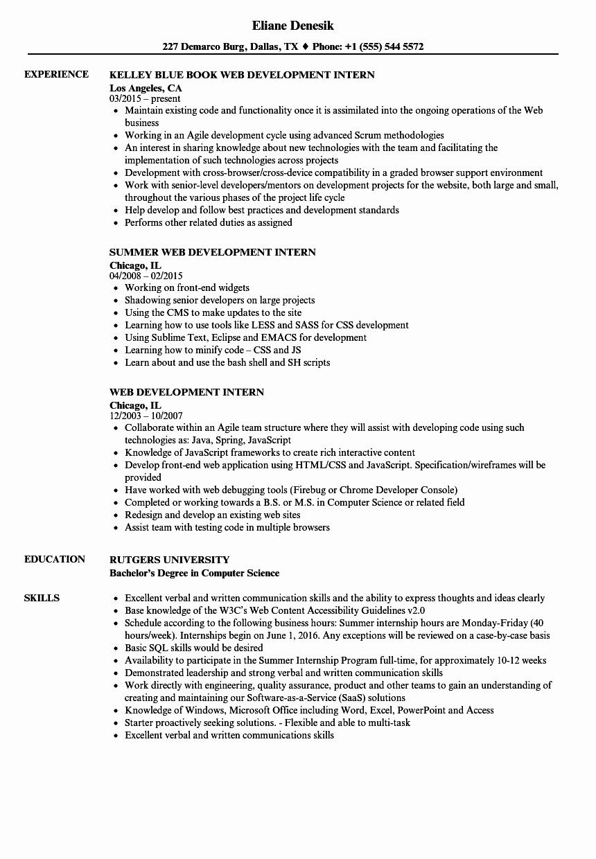 Web Developer Resume Template Best Of Resume Web Developer Talktomartyb