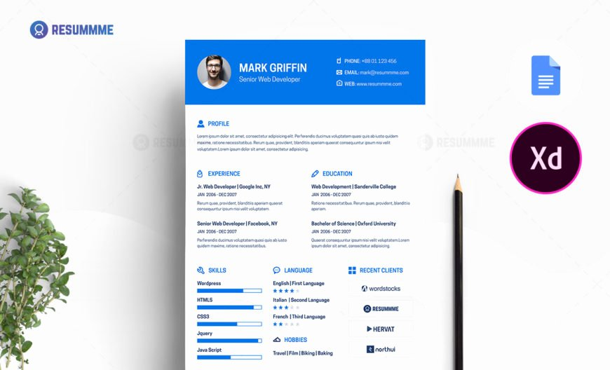 Web Developer Resume Template Inspirational Best Resume Templates Ms Word Psd Ai