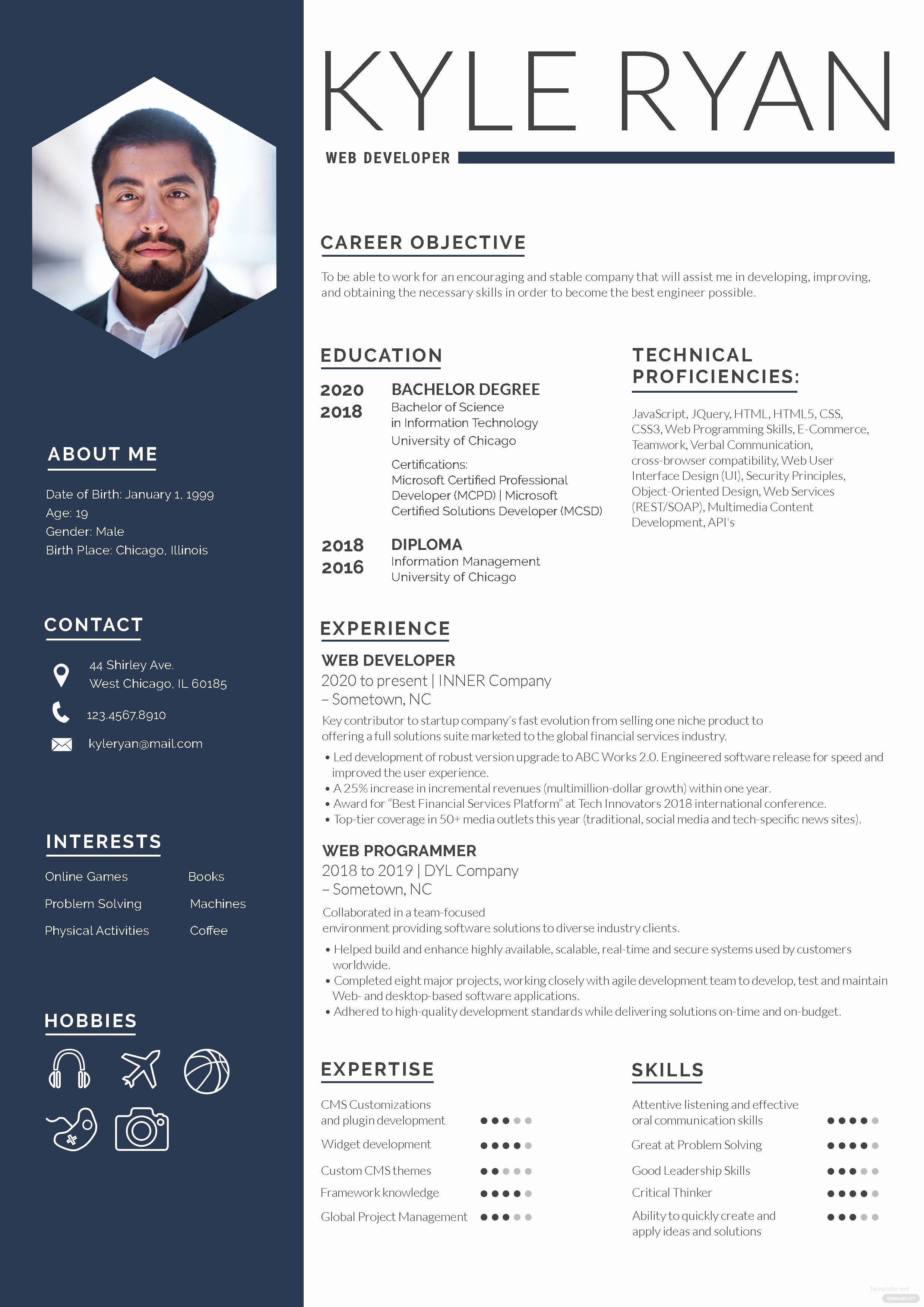 Web Developer Resume Template Inspirational Web Developer Resume Template In Adobe Shop