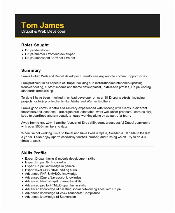 Web Developer Resume Template Inspirational Web Developer Skills Resume 7 Skills Every Web Developer