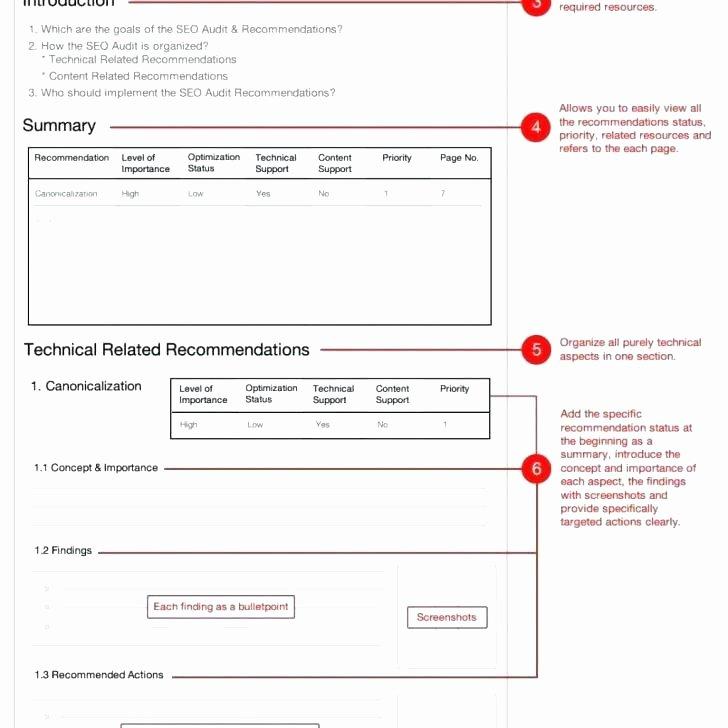 Website Audit Report Template Inspirational Health and Safety Audit Report format Template Free