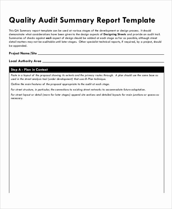 Website Audit Report Template Lovely 13 Quality Audit Report Templates Google Docs Word