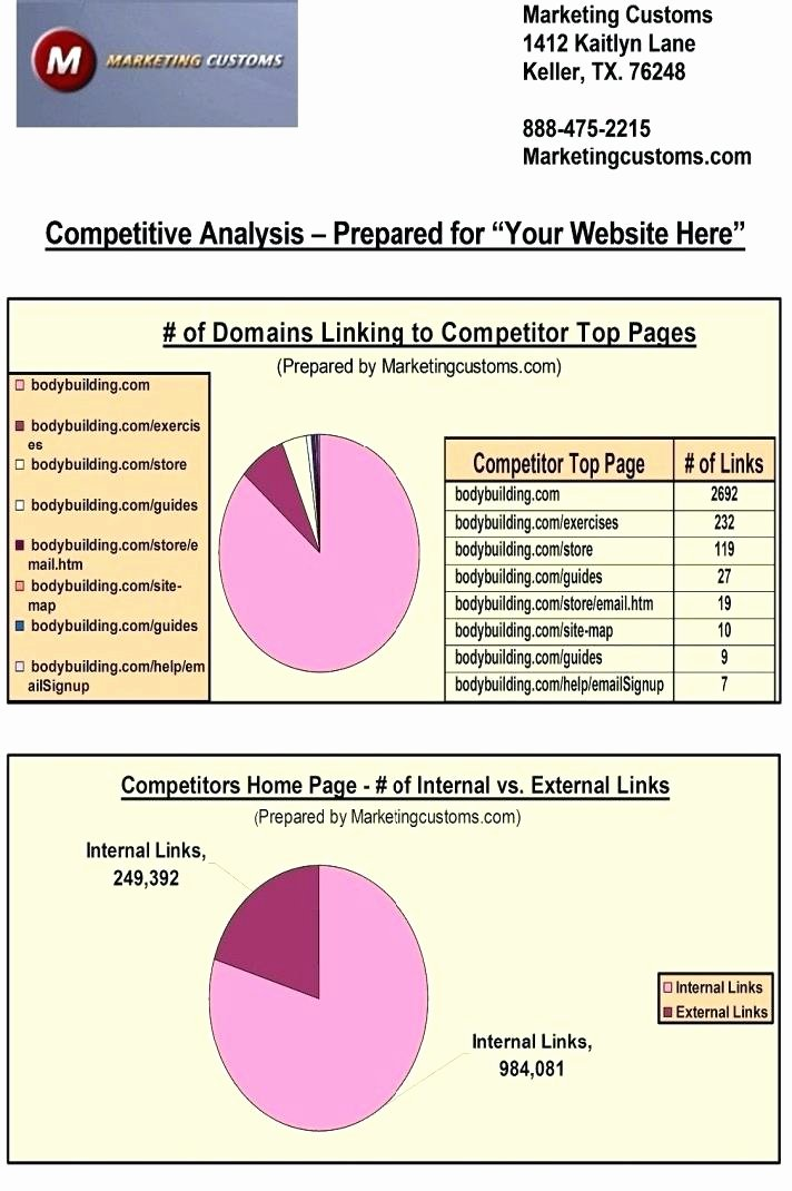 Website Competitive Analysis Template Awesome Website Petitor Analysis Template How to Write A Web