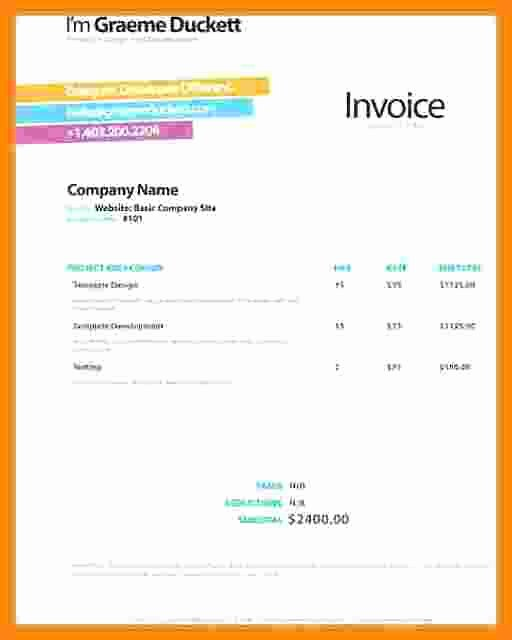 Website Design Invoice Template Elegant 7 Web Design Invoice Template