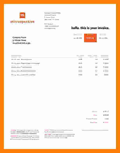 Website Design Invoice Template Luxury 9 Web Design Invoice Template
