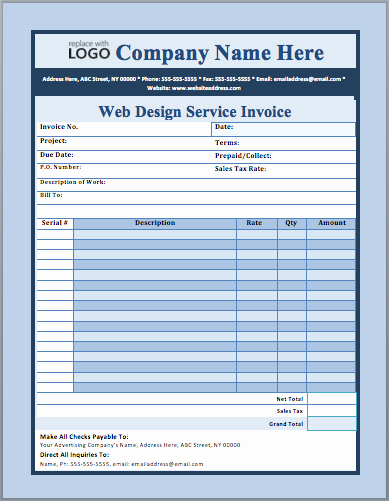 Website Design Invoice Template Luxury Web Design Invoice Template Sarahepps