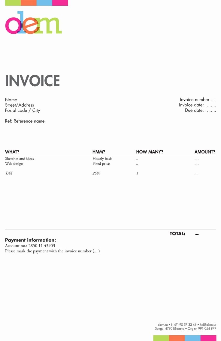 Website Design Invoice Template Unique 20 Best Invoices Inspiration Images On Pinterest
