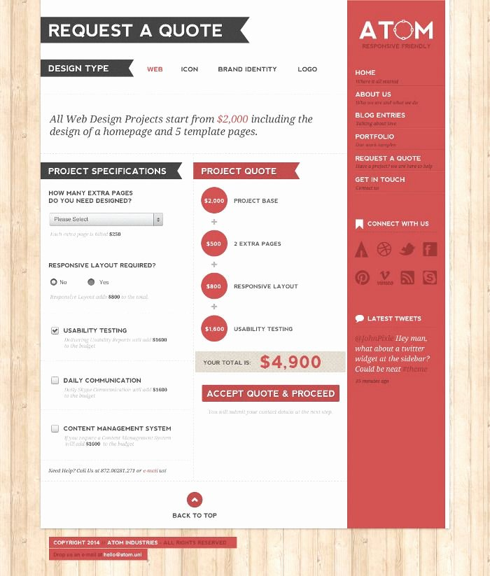 Website Design Quote Template Beautiful 7 Best Invoices Images On Pinterest