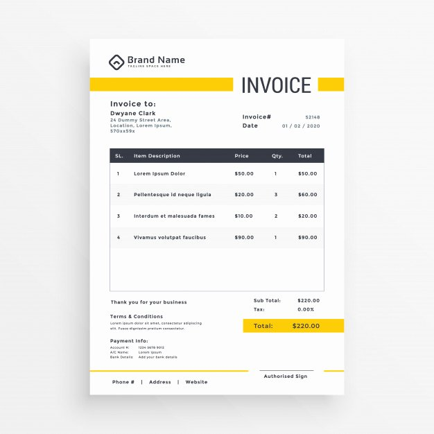 Website Design Quote Template Fresh Receipt Vectors S and Psd Files