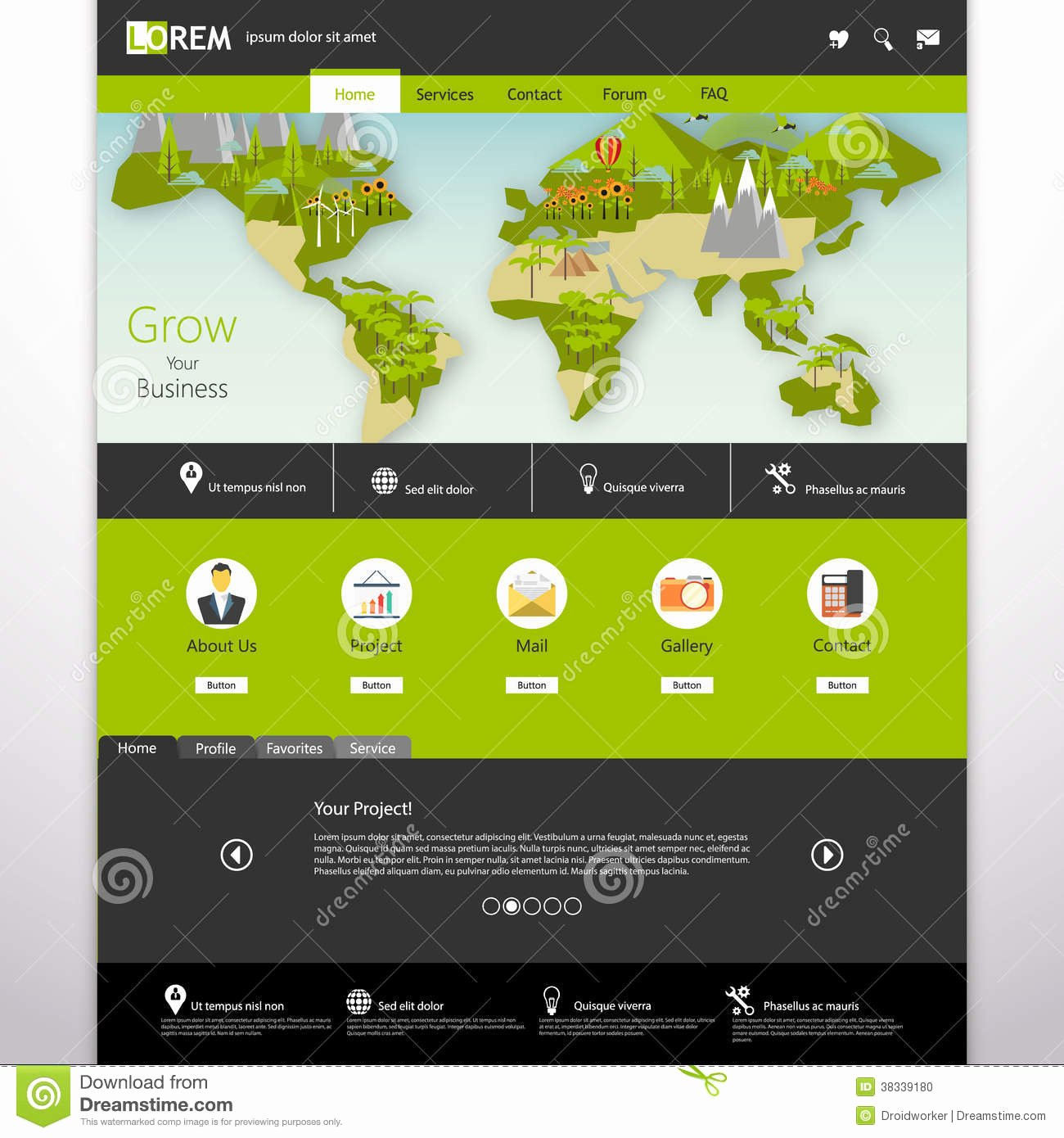 Website Site Map Template Beautiful Modern Eco Website Template with Flat Eco Earth Map