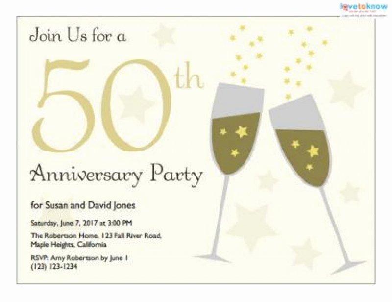 Wedding Anniversary Invitation Template Awesome Free Printable 50th Anniversary Invitation
