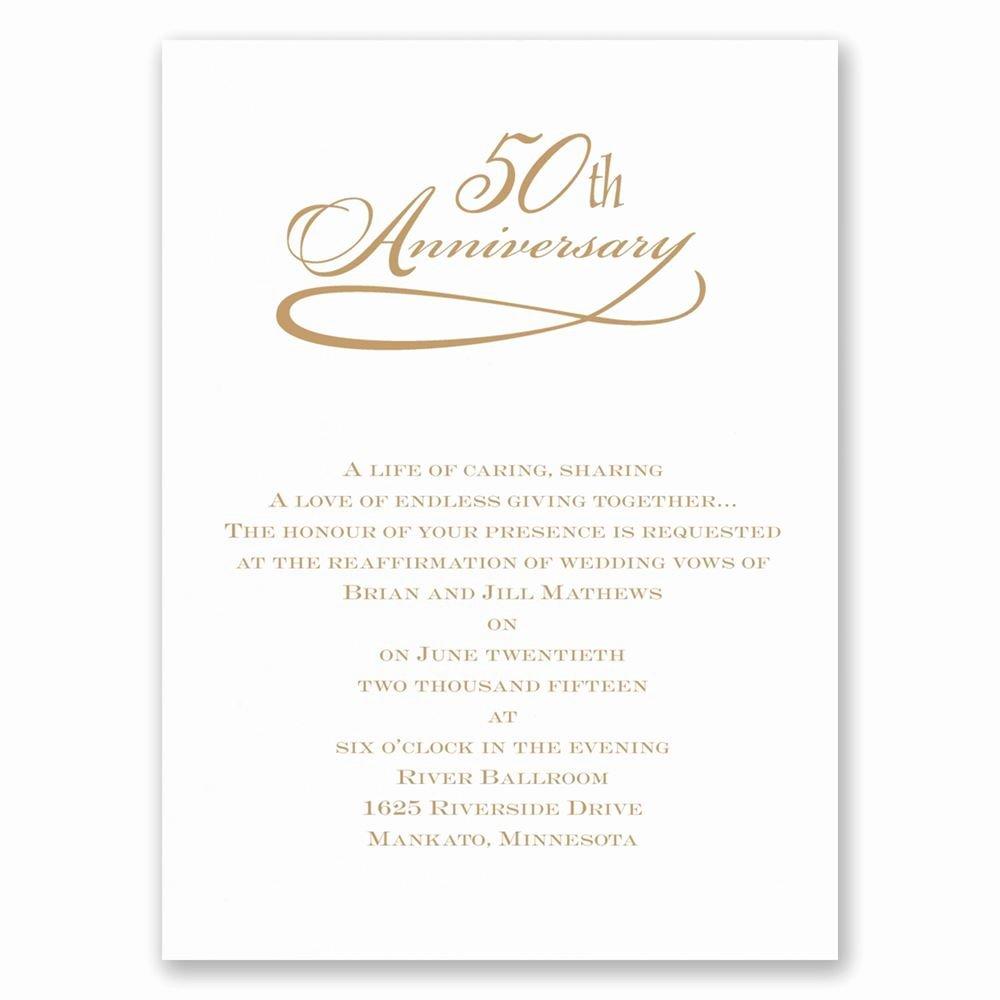 Wedding Anniversary Invitation Template Elegant Classic 50th Anniversary Invitation