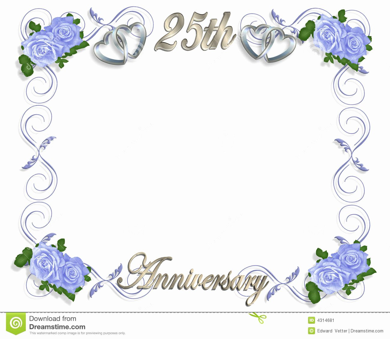 Wedding Anniversary Invitation Template Fresh 25th Wedding Anniversary Invitations Templates