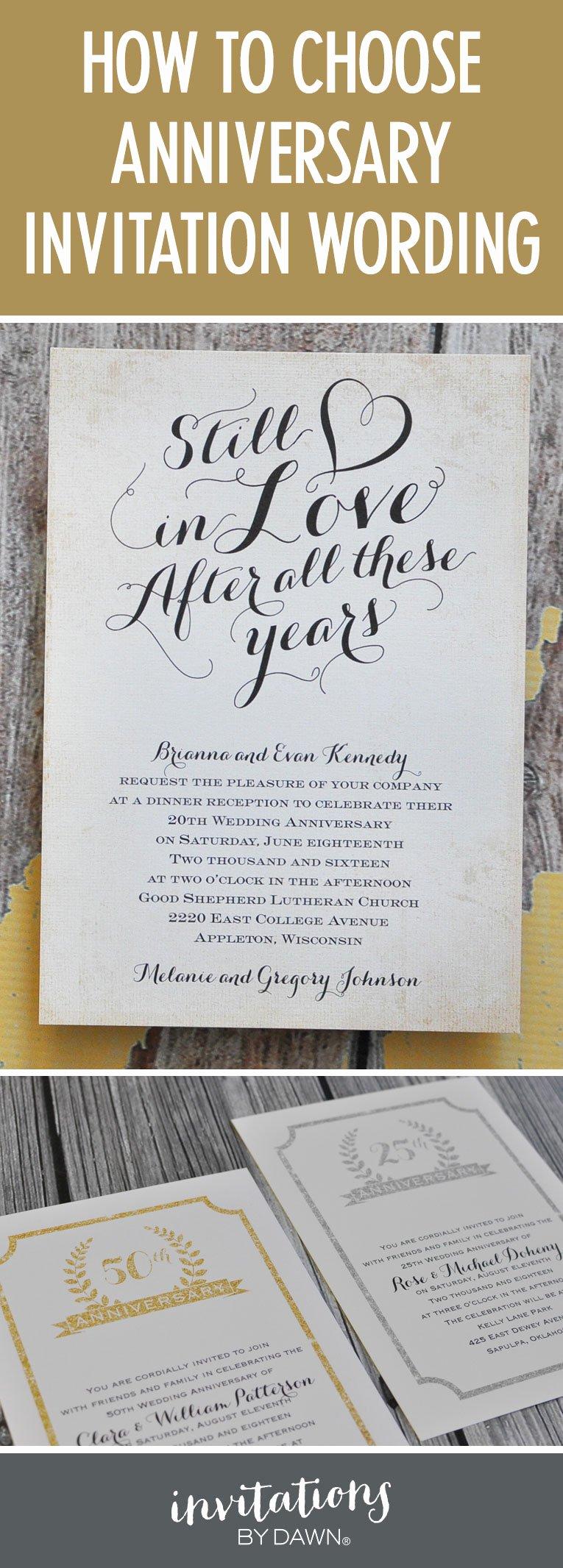 Wedding Anniversary Invitation Template Inspirational Finding the Right Wedding Anniversary Invitation Wording