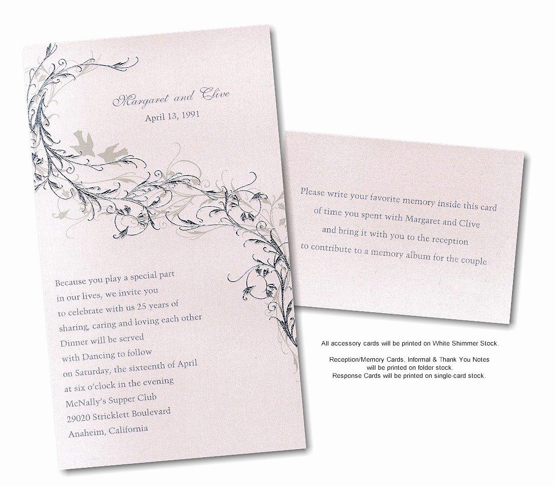 Wedding Anniversary Invitation Template Lovely Silver Wedding Anniversary Invitations Templates