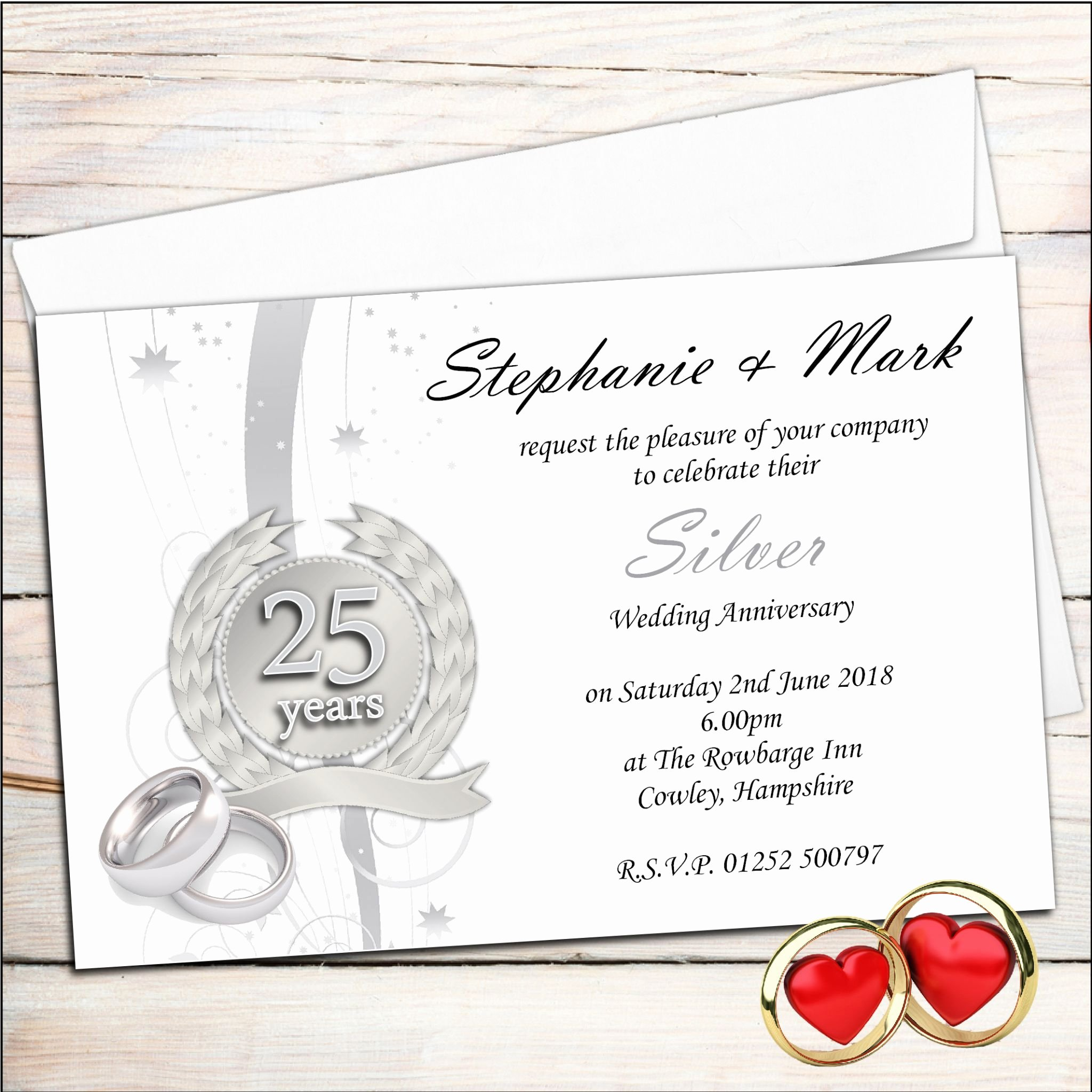Wedding Anniversary Invitation Template New Anniversary Invitations 25th Silver Wedding Anniversary