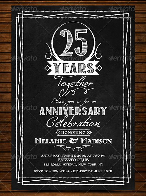 Wedding Anniversary Invite Template Awesome 22 Anniversary Invitation Templates Psd Ai Word
