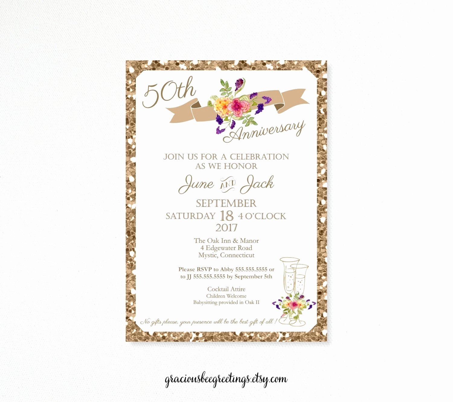 Wedding Anniversary Invite Template Awesome Invitation Templates 50th Wedding Anniversary New