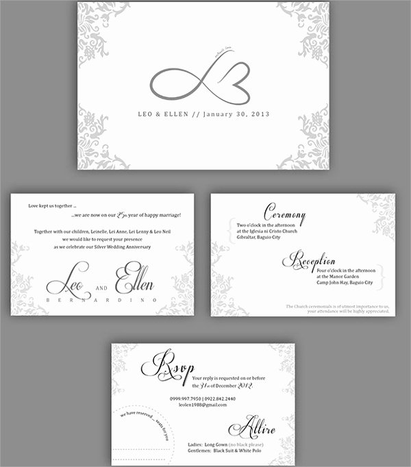 Wedding Anniversary Invite Template Beautiful 13 Sample Amazing Anniversary Invitation Templates