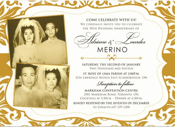 Wedding Anniversary Invite Template Beautiful 30 Anniversary Invitation Templates Psd Vector Eps Ai