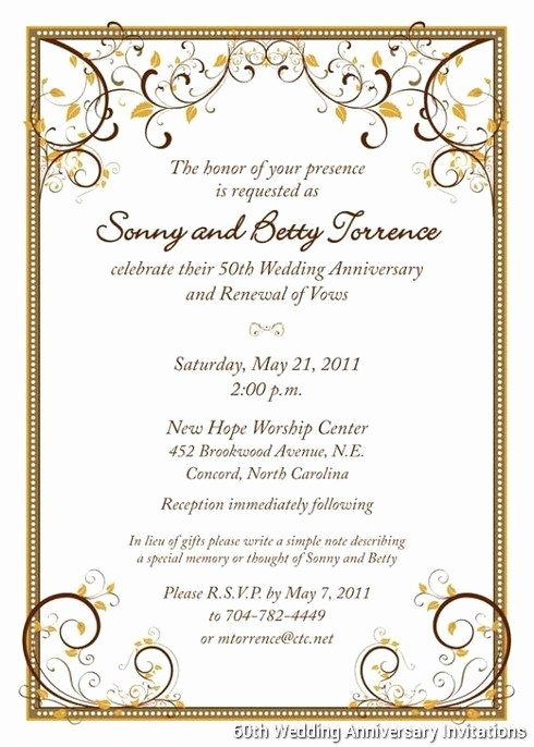 Wedding Anniversary Invite Template Elegant 60th Wedding Anniversary Invitations Templates …