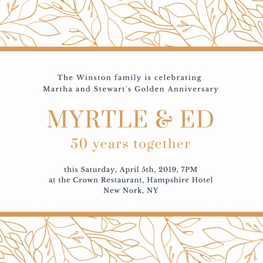 Wedding Anniversary Invite Template Elegant Customize 360 Vintage Invitation Templates Online Page