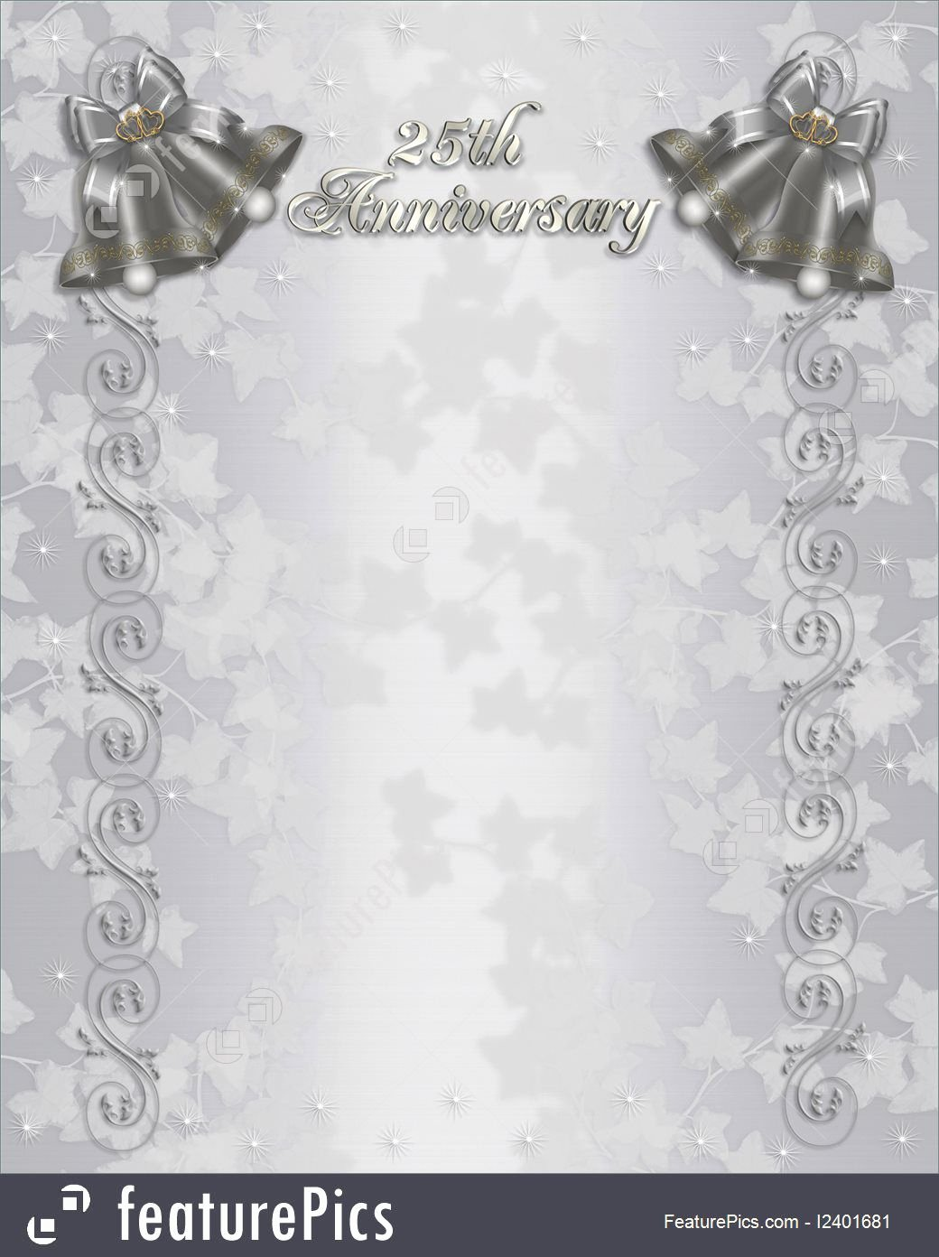 Wedding Anniversary Invite Template Elegant Free 25th Wedding Anniversary Invitations Free Templates