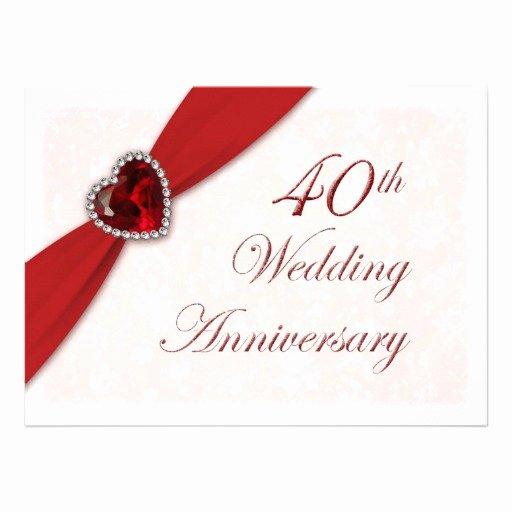 Wedding Anniversary Invite Template Elegant Wedding Invitation Wording 40th Wedding Anniversary