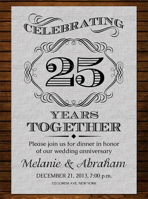 Wedding Anniversary Invite Template Fresh 22 Anniversary Invitation Templates Psd Ai Word