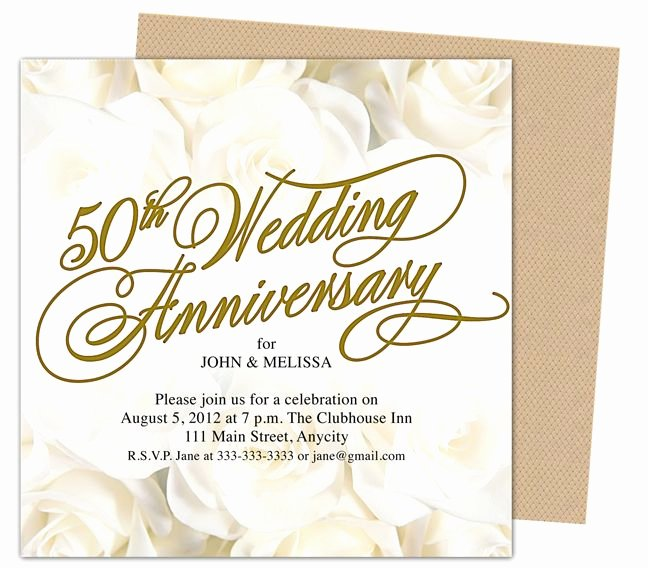 Wedding Anniversary Invite Template Fresh 9 Best 25th & 50th Wedding Anniversary Invitations
