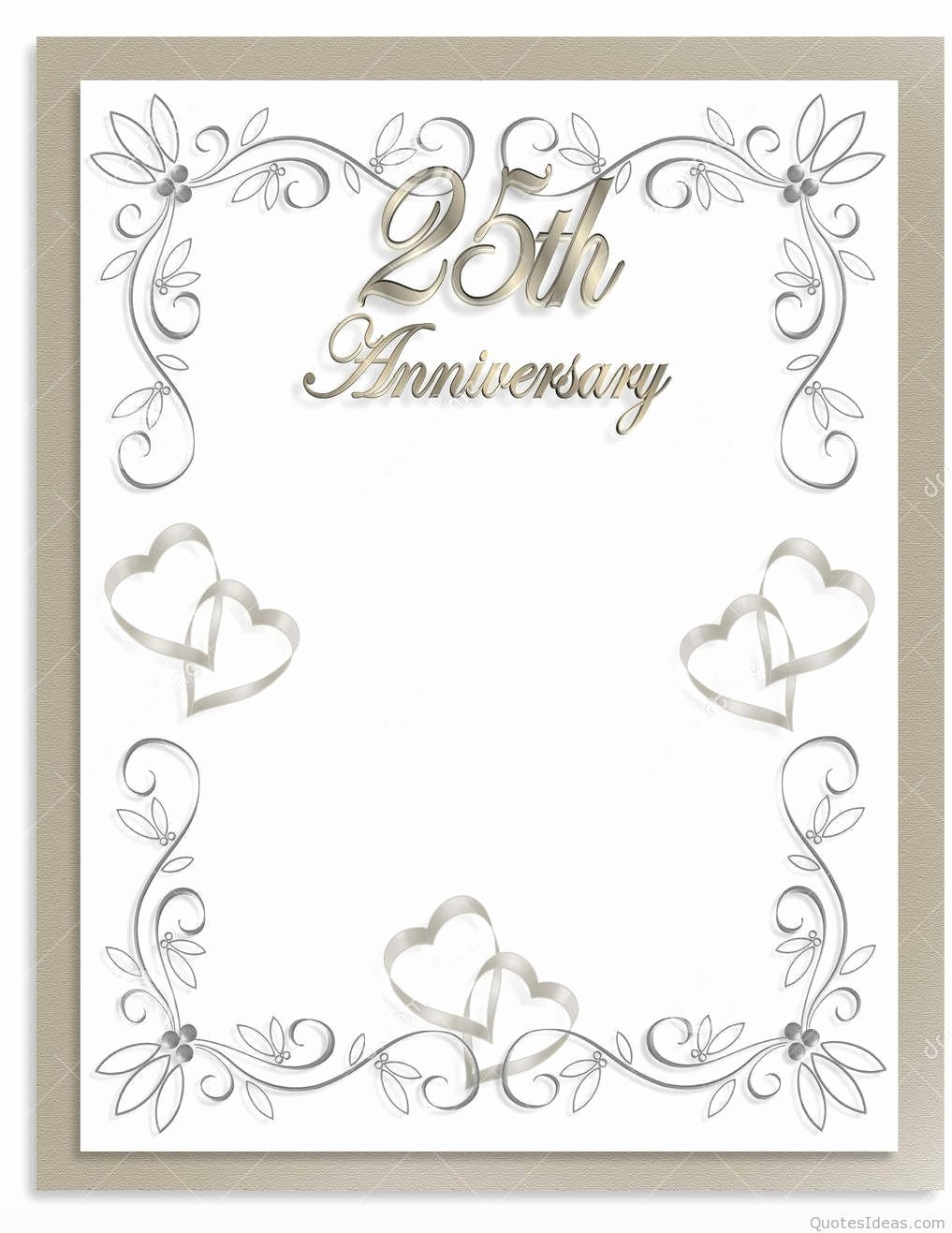Wedding Anniversary Invite Template Inspirational Anniversary Invitations Free 25th Wedding Anniversary