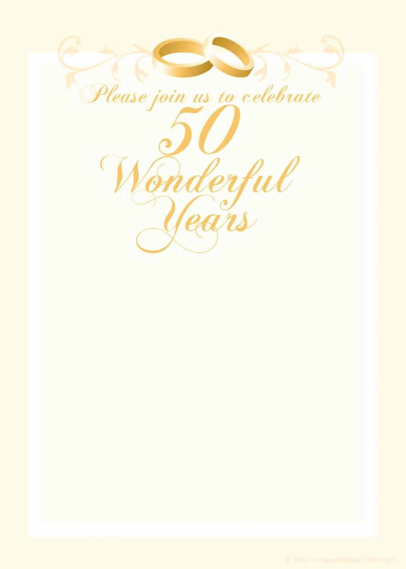 Wedding Anniversary Invite Template Inspirational Free 50th Wedding Anniversary Invitation Template