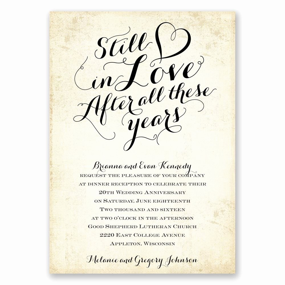 Wedding Anniversary Invite Template Inspirational Still In Love Anniversary Invitation