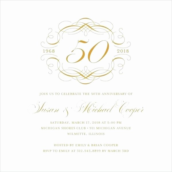 Wedding Anniversary Invite Template Lovely Free Wedding Anniversary Invitation Templates Template