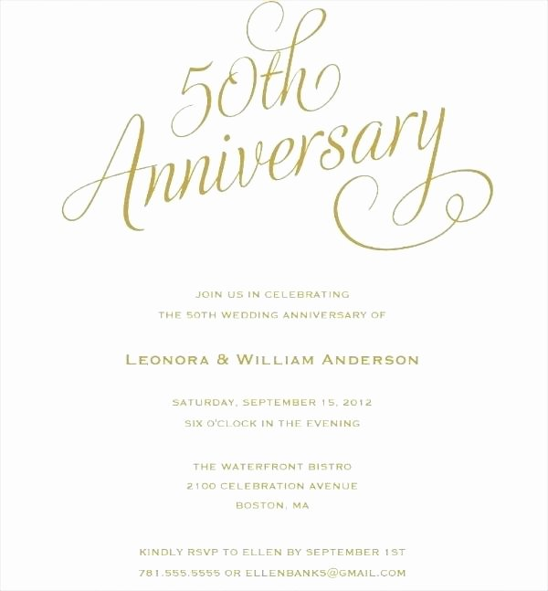 Wedding Anniversary Invite Template Lovely Marriage Anniversary Invitation Card Invitations within