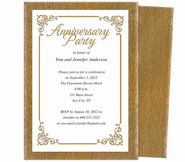 Wedding Anniversary Invite Template Luxury Wedding Anniversary Party Templates Laurel Wedding