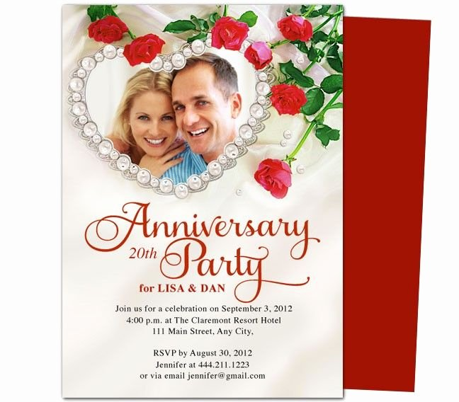 Wedding Anniversary Invite Template New Heart Frame Anniversary Invitation Template