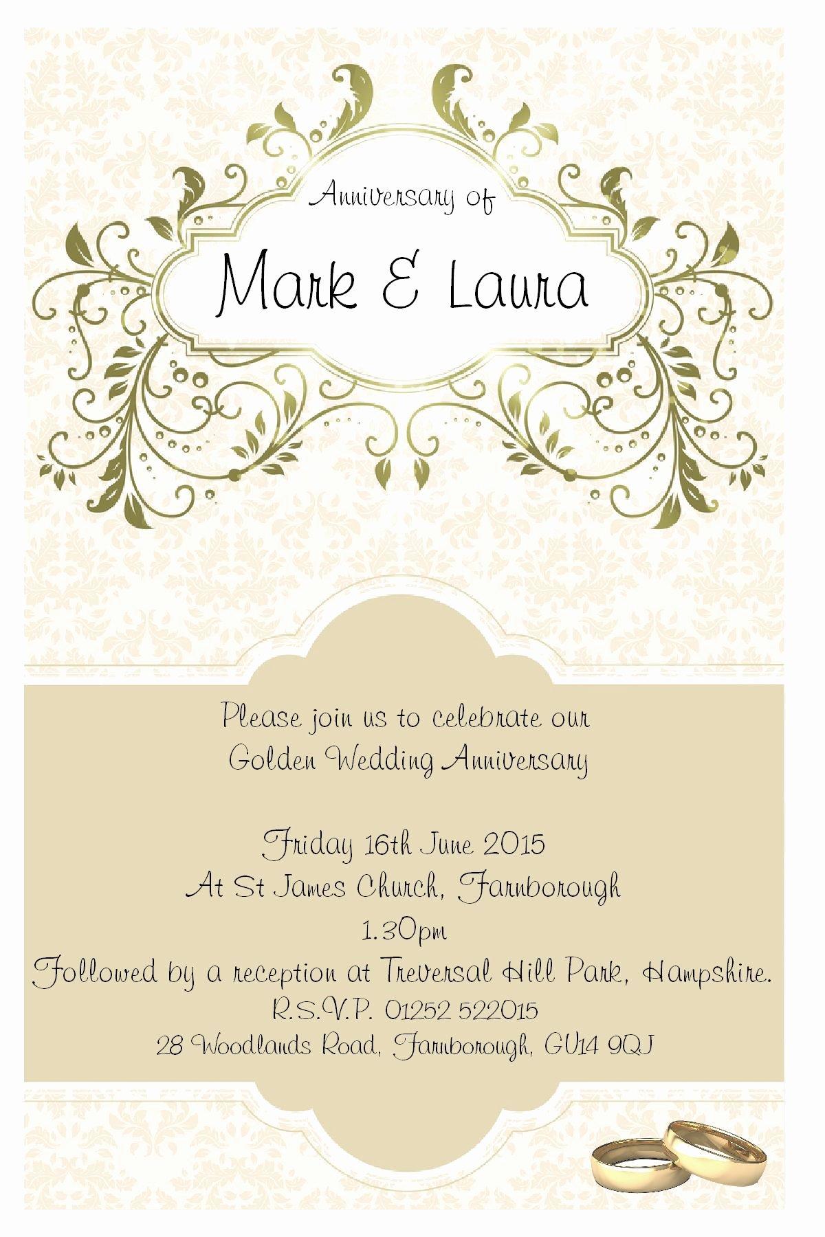 Wedding Anniversary Invite Template Unique Anniversary Invitations Ideas Anniversary Party