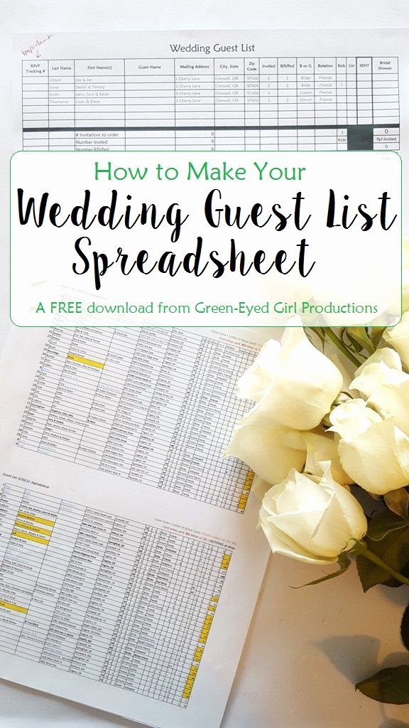 Wedding Checklist Excel Template Awesome How to Make Your Wedding Guest List Spreadsheet Free