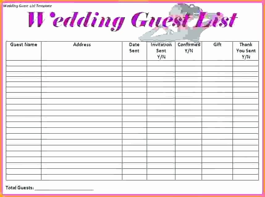 Wedding Checklist Excel Template Awesome Wedding List Template Planning Checklist Word