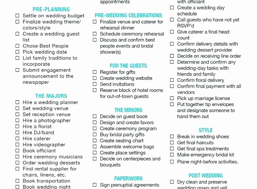Wedding Checklist Excel Template Best Of Wedding Planning Guest List Template Guest List